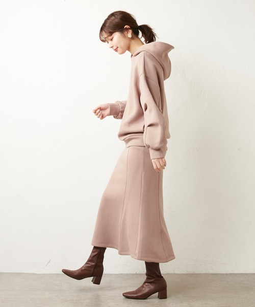 [natural couture] タックスリーブデザインプルパーカー15