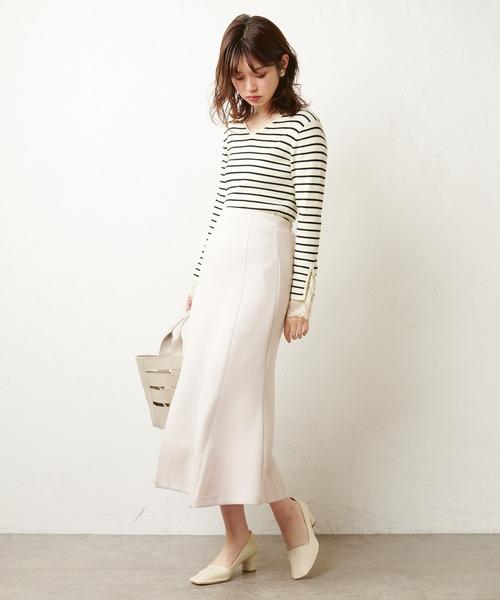 [natural couture] スリット入りマーメイドスカート
