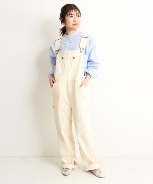 [IENA] キャンブリックスタンドカラーシャツ【手洗い可能】◆33