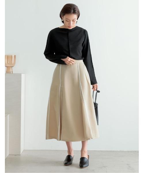 ウェザークロスパイピングフレアスカート