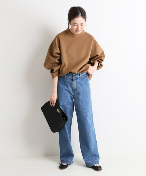 [IENA] LE DENIM バギーパンツ【洗濯機使用可能】◆7