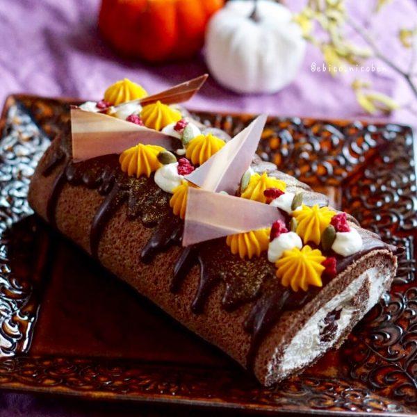 おしゃれに仕上げたハロウィン風ケーキ