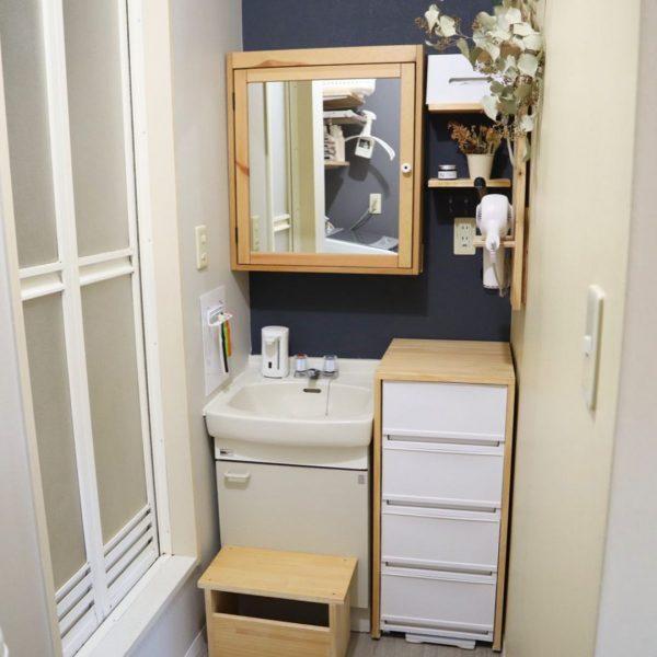 IKEAアイテムで素敵な洗面台にDIY