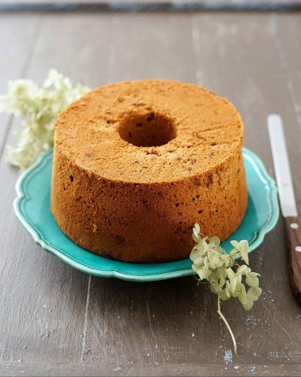 ラムレーズンチョコレートシフォンケーキ