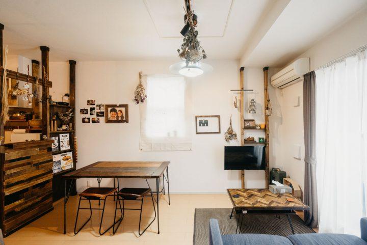 DIYで格好いい狭いマンションのインテリア