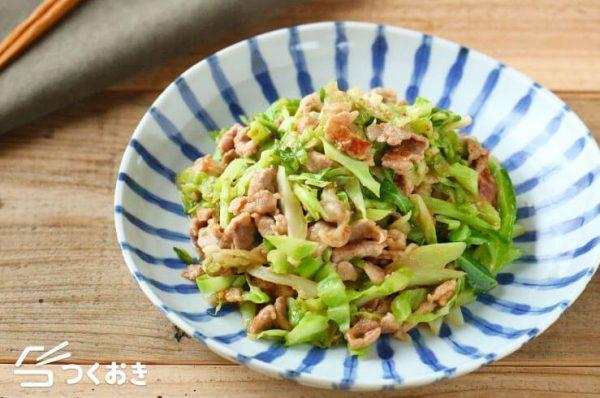 豚こまキャベツの簡単ゴマ味噌炒め