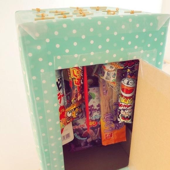 駄菓子屋さんごっこも楽しめるボックス