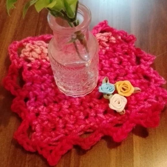 編み物初心者にも優しいコースター