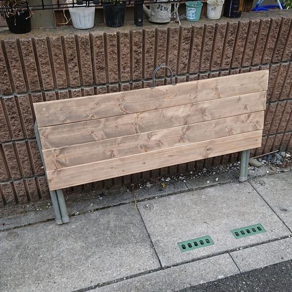 ベンチをリメイク!折りたたみローテーブル