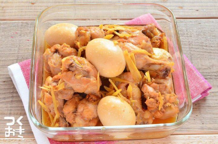 簡単主菜レシピ!手羽元とたまごの煮込み