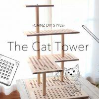 キャットタワーを天然木材で作る方法 愛猫家のためのDIY