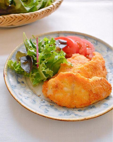鶏胸肉のカリカリチーズピカタ