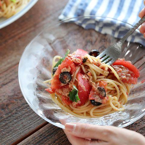 フレッシュトマトとツナの冷製パスタ