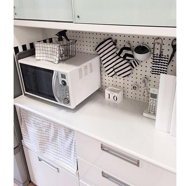 有孔ボード キッチン収納5