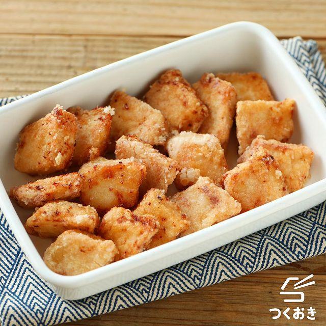 和食の揚げ物レシピならカジキの竜田揚げ