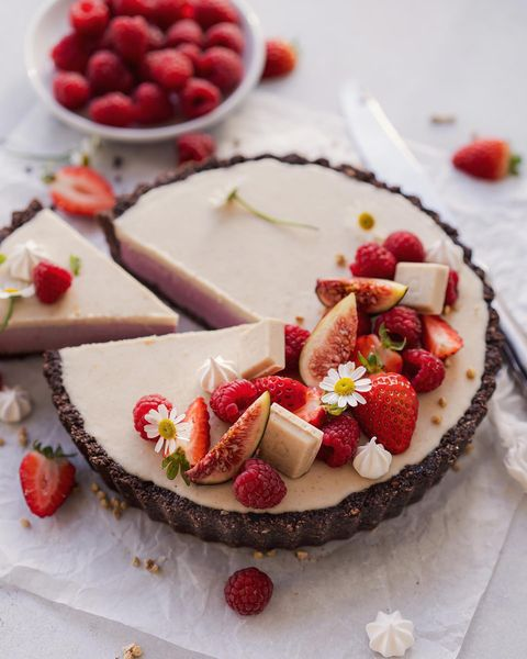 ホワイトチョコレートとラズベリーのタルト