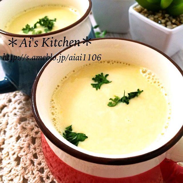 100円で汁物の人気レシピ☆コーンスープ