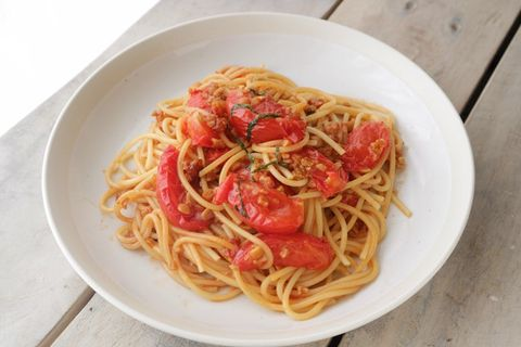 トマト納豆パスタ