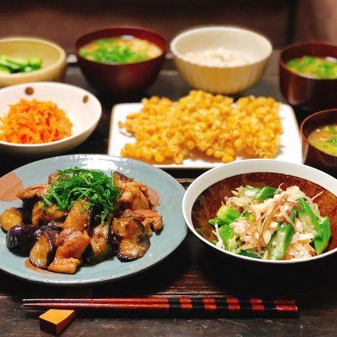 人気料理♪なすと鶏肉の生姜焼き