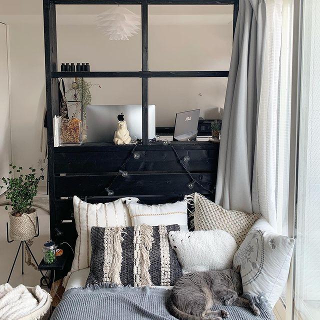一日の疲れを癒すベッドスペース