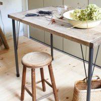 【folk公式アンバサダー】簡単DIY!アイアンの脚が素敵な作業テーブル