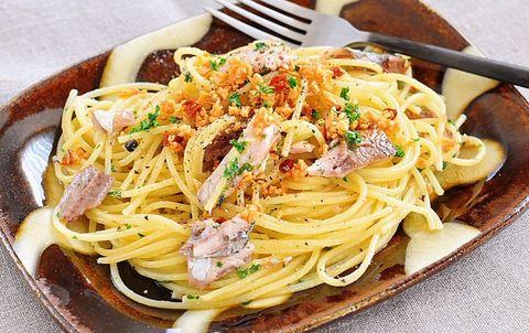 さんまのオイル煮ペペロンチーノ