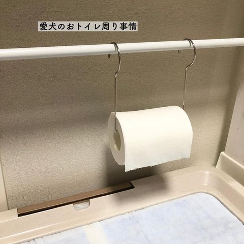突っ張り棒を活用したトイレ収納15
