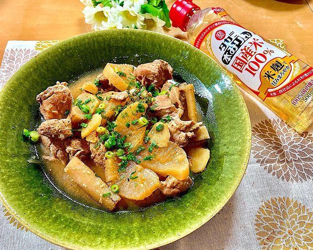 豚肉と根菜の生姜味噌煮込み
