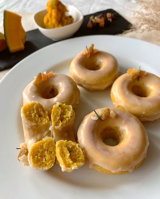 かぼちゃのメープルドーナツ