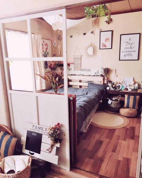 一人暮らしの寝室インテリア2