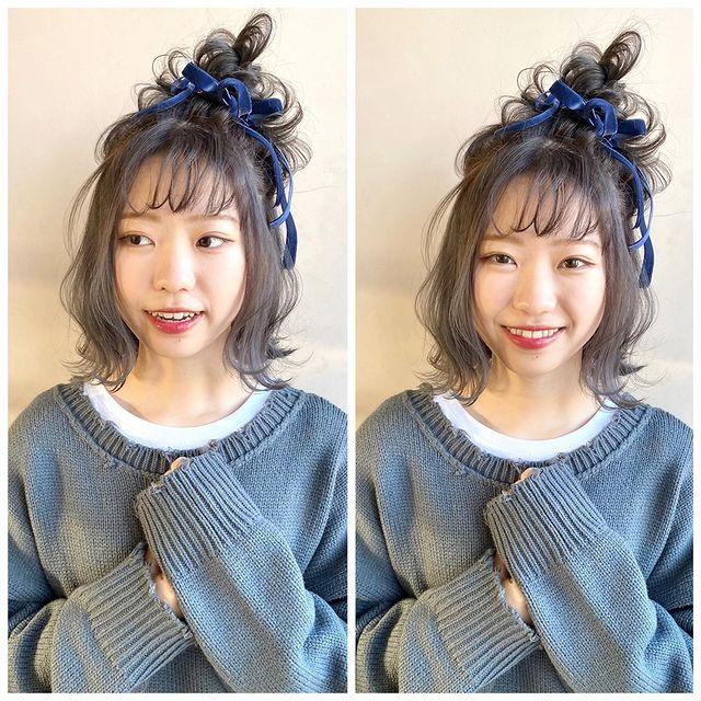伸ばしかけの髪のまとめ方9