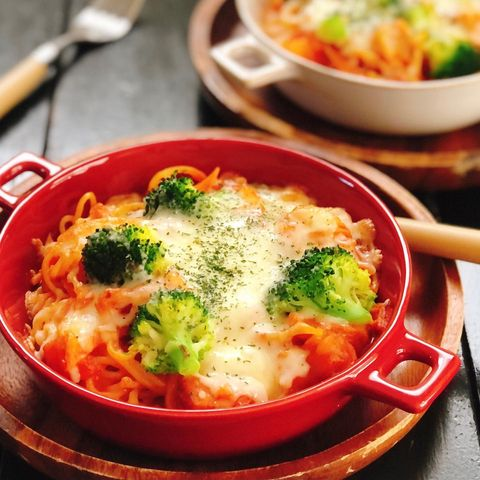 トマトクリームスパゲティグラタン