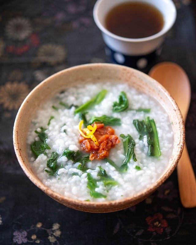おすすめレシピ!春菊の美味しいおかゆ
