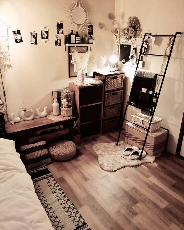 一人暮らしの寝室インテリア