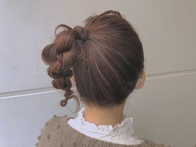 伸ばしかけの髪のまとめ方5