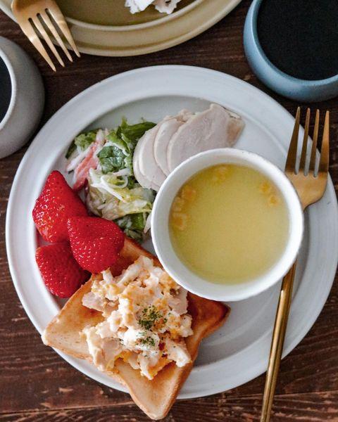 鶏ハムを使用した洋食ワンプレート