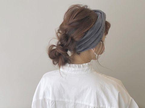伸ばしかけの髪のまとめ方12