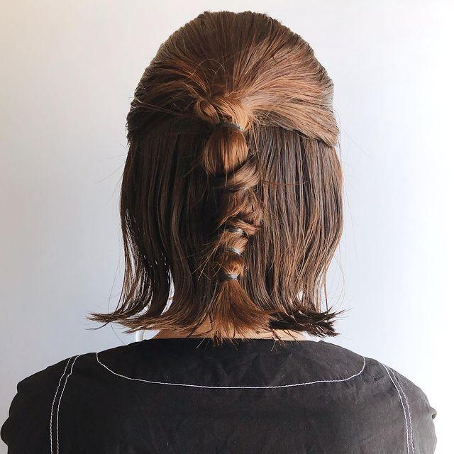 伸ばしかけの髪のまとめ方8