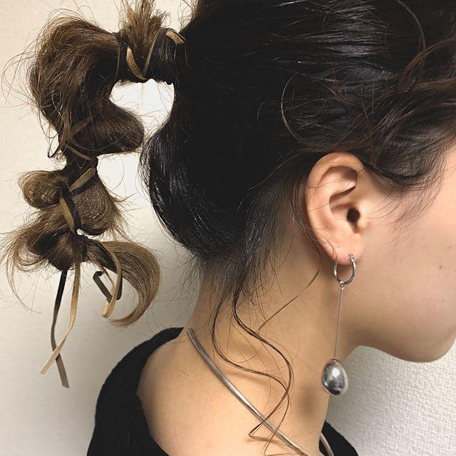 伸ばしかけの髪のまとめ方3