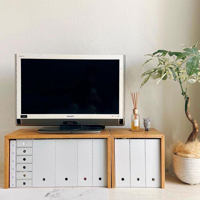 コの字の家具×ファイルボックス