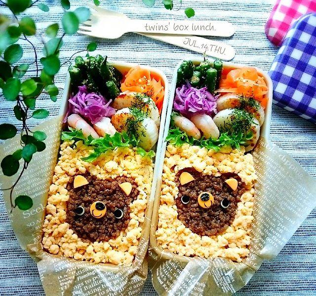 クマのキャラ弁レシピで子供が喜ぶお弁当