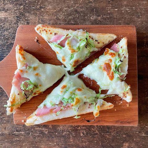 ハムとキャベツの美味しいチーズトースト
