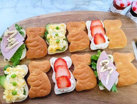 簡単!コアラパンのイチゴサンドイッチ