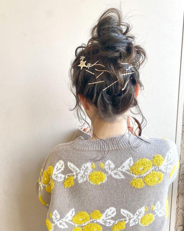 伸ばしかけの髪のまとめ方10