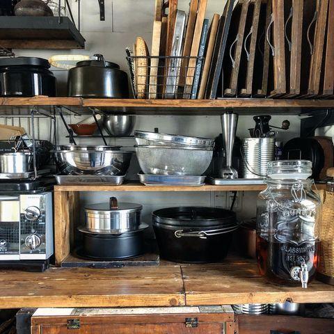 キッチン収納棚に◎重ねるボウル収納アイデア