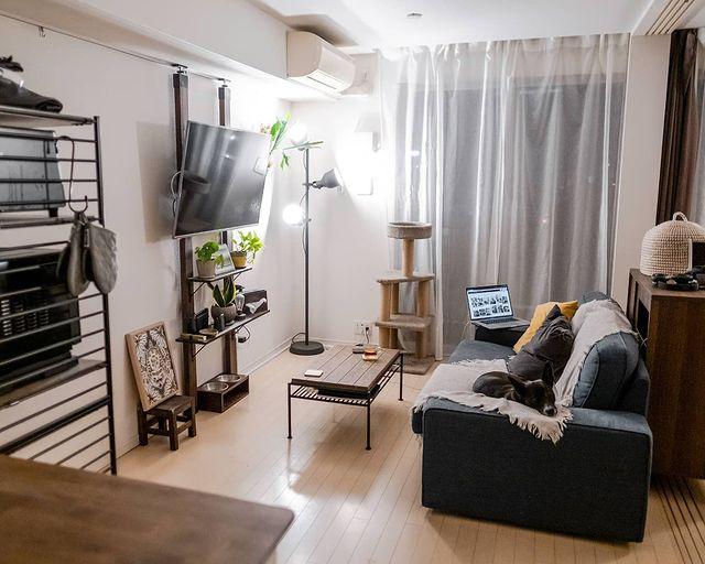 リビングを広く見せるレイアウト術:家具6
