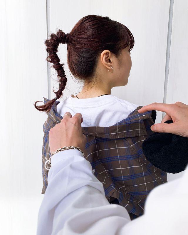 伸ばしかけの髪のまとめ方