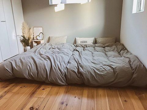 すのこベッドを使ったインテリア
