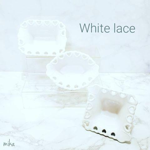 ホワイトレースシリーズのおしゃれ食器