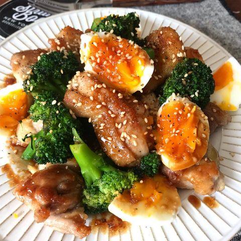 鶏とブロッコリーの焦がしマヨ照りソース
